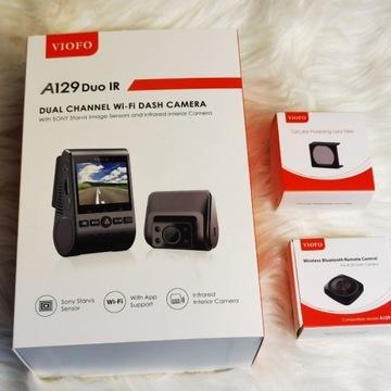 Kamera samochodowa VIOFO A129 Duo -G IR GPS + inne