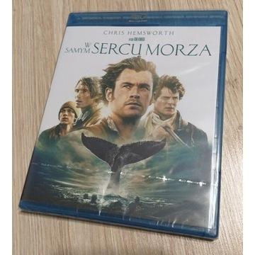 W SAMYM SERCU MORZA Blu Ray NOWY FOLIA Hemsworth