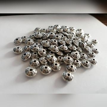 Koraliki,przekładki,metal,srebrn,do biżuterii HURT