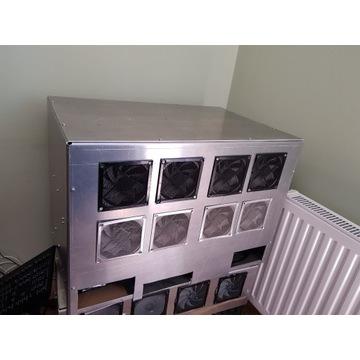 Rama koparki na 12 GPU pełne aluminium szlifowane.