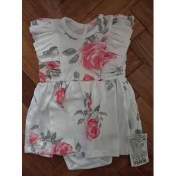 Śliczne sukienko-body w kwiaty na lato 80