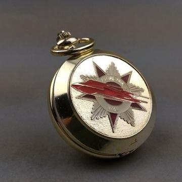 Kieszonkowy zegarek mechaniczny, zdobiona koperta