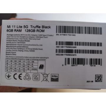 Xiaomi Mi 11 Lite 5G 6/128GB black