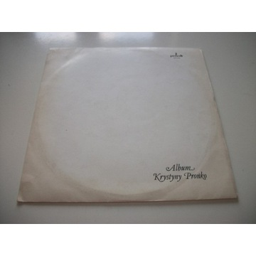 KRYSTYNA PROŃKO - ALBUM / 1 PRESS / JAK NOWA