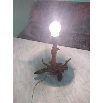 Lampka z korzenia stylowa lata 90