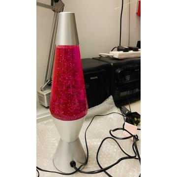 Czerwona lampka z brokatem
