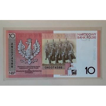 Banknot 10zł 90.rocznica NIEPODLEGŁOŚCI 2008 R.