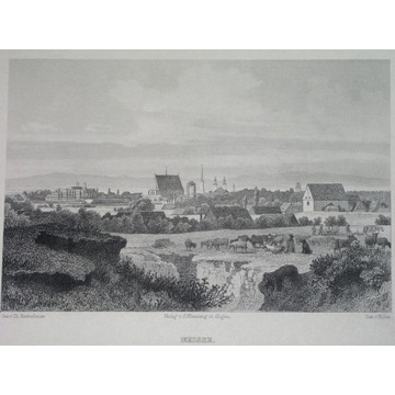 1888 ORYGINAŁ NYSA NEISSE panorama ŚLĄSK