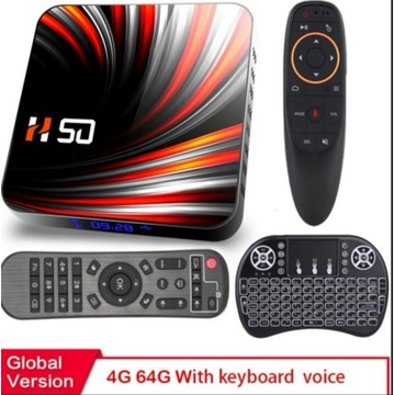 H50 SMART TV BOX Android 10 4/64/512GB  NETFLIX