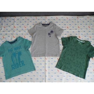 T-shirt-y Lupilu zestaw 3 sztuk, rozmiar 86/92