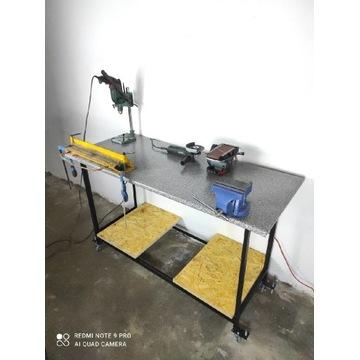 Stół warsztatowy, roboczy, do garażu, na kółkach