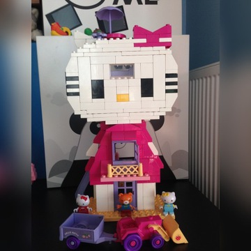 Klocki Unico Plus HELLO KITTY HOUSE+TRAKTOR