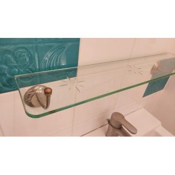 szklana półka do łazienki