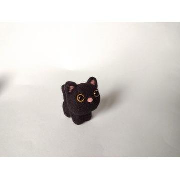 Brelok zawieszka kot kotek czarny handmade