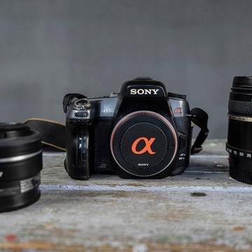zestaw aparat SONY alfa 550 + 2 obiektywy