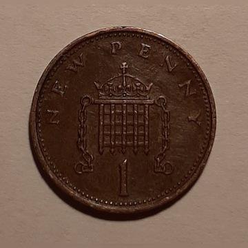 Zjednoczone Królestwo 1 New Penny 1971 KM# 915