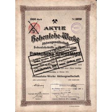 ZAkłady Hohenlohego - Wełnowiec 1911 r.