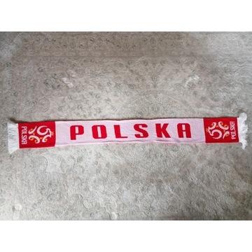 """Szalik piłkarski Polska """"Łączy Nas Piłka"""""""