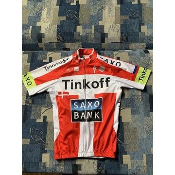 Strój rowerowy Tinkoff Koszulka S Spodenki M