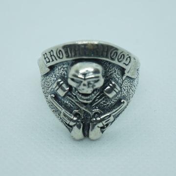 "PIERŚCIEŃ ""BROTHERHOOD"",srebro 925,nowy"