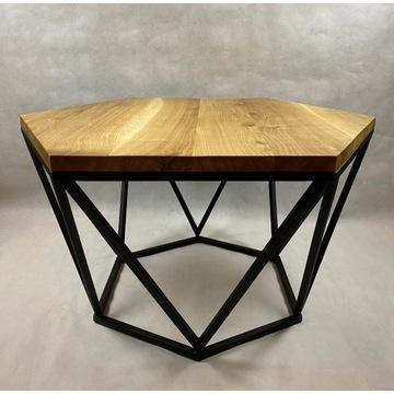 Geometryczny stolik kawowy w stylu LOFT. Metal i l
