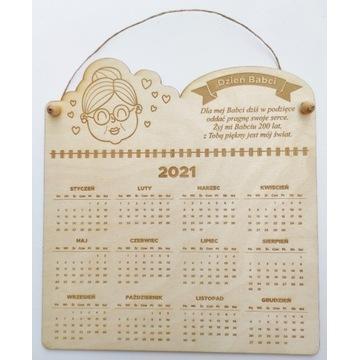Kalendarz drewniany, prezent, Dzień Babci