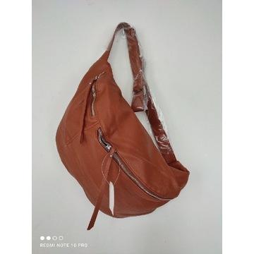 Nowa  torebka torba nerka brązowa eko-skóra