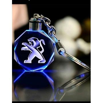 Breloczek Peugeot Brelok LED wysyłka PL