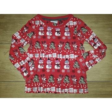Next, świąteczna bluzeczka, 6 lat, cudo