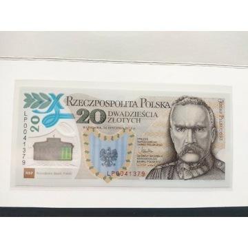 Banknot kolekcjonerski 20 zł Legiony Piłsudski unc