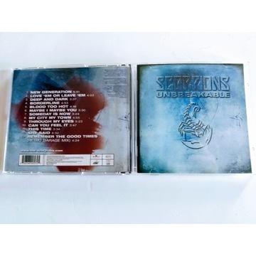 """SCORPIONS - """"UNBREAKABLE""""  CD"""