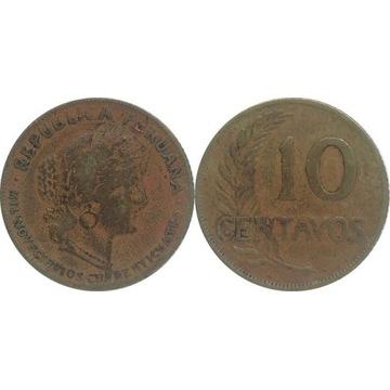 Peru 10 centavos 1944, KM#214a.4