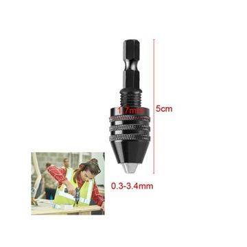 """Uchwyt wiertarski 0.3-3.4mm - bit 1/4"""" czarny"""