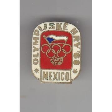 Olimpiada Meksyk 1968  Team Czechosłowacja