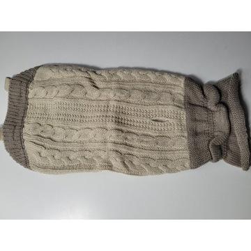 Sweterek pleciony dla psa M