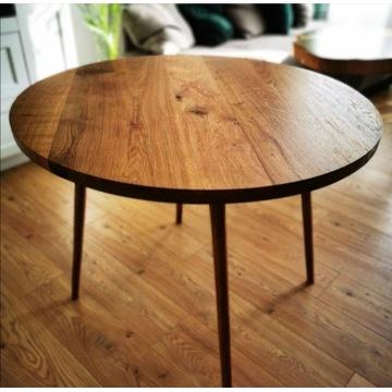 Stół dębowy, okrągły