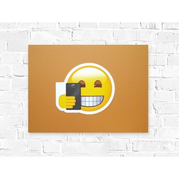 śmieszny plakat emotikon, fajny plakat na ścianę