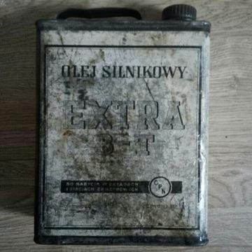 Stary kanister, olej silnikowy EXTRA 8T,Czechowice