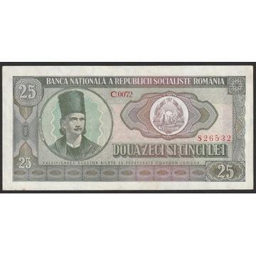RUMUNIA 25 LEI 1966 - STAN BANKOWY  - UNC -