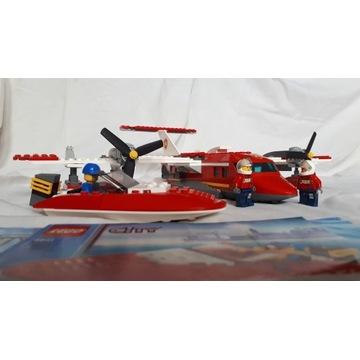 LEGO samolot strażacki (nr 4209) i łódź (4641)