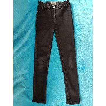 Spodnie jeans Next dziewczęce czarne r. 152