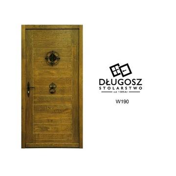 Drzwi dębowe szczotkowane retro góralskie chta dom