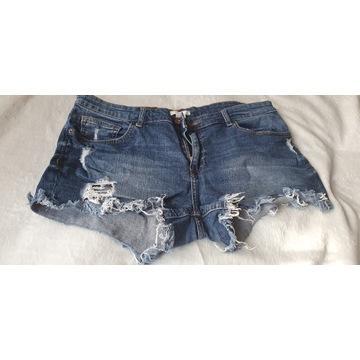 jeansowe szorty 42 h&m