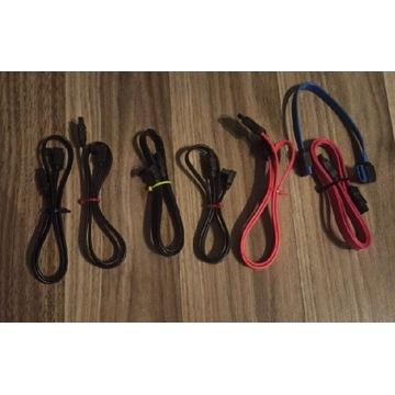 6x kabel 0,5m sata +20cm zestaw