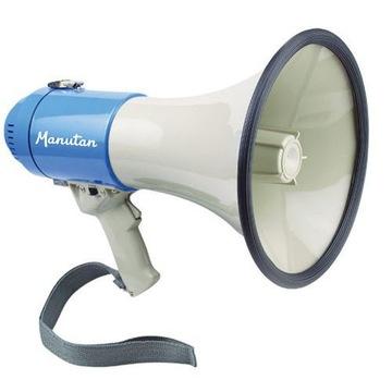 Megafon z syreną Manutan