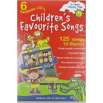Children's Favourite Songs 6 CD 125 english songs