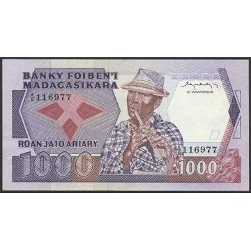 Madagaskar 1000 franków 1983 stan bankowy - UNC -
