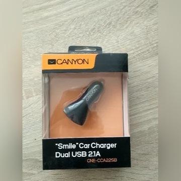 Ładowarka samochodowa SMILE Dual USB 2.1A