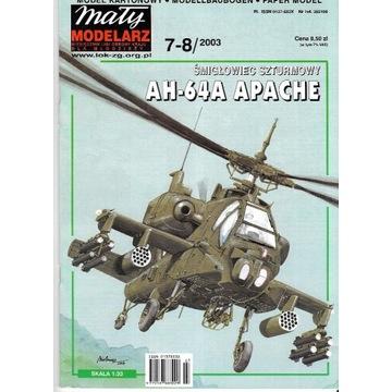 Mały Modelarz 7-8 2003 AH-4 APACHE model 1:33 orgi