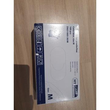 Rękawiczki Medyczne 100szt. Rozmiar M nitrylowe